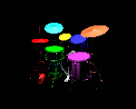 Example 3d rendering virtual drums
